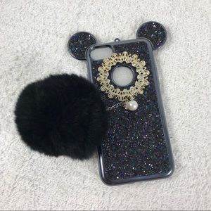 Luxury 3D Glitter Bling Mickey Ear iPhone 7 case